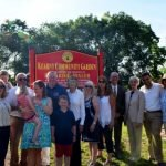 Mayor and Council Unveil Sign and Dedicate Kearny Community Garden in Memory of Edward C. Bixler