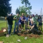 "Town Environmental Group ""Kearny Awake"" plants trees at Vet's Field"