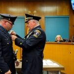 Mayor Alberto G. Santos, members of the Town Council and Kearny Police Chief George King held a swearing in ceremony for newly hired police officers