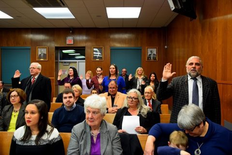 The Town of Kearny holds its Annual Reorganization Meeting