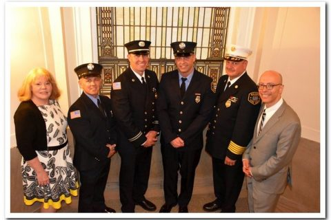 Town of Kearny Holds Swearing-In Ceremony for Newly Promoted Deputy Chief and Captains