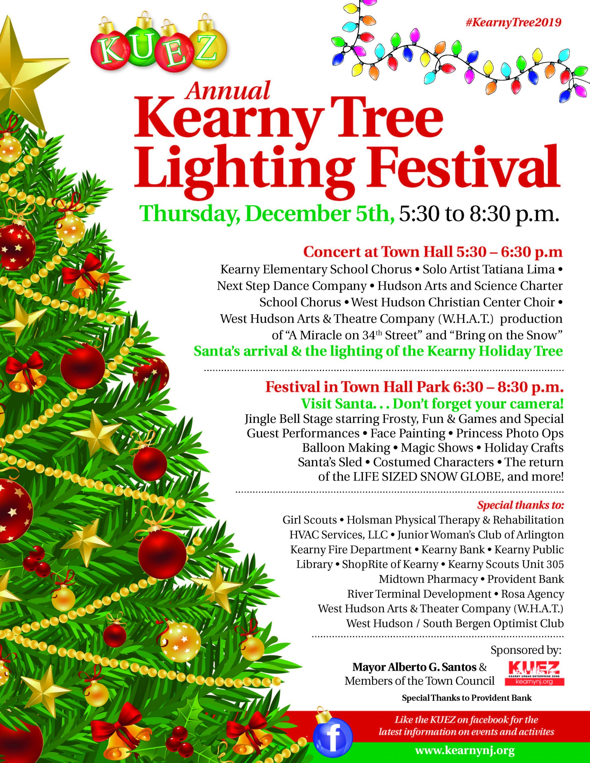 Tree Lighting Flyer – 2019