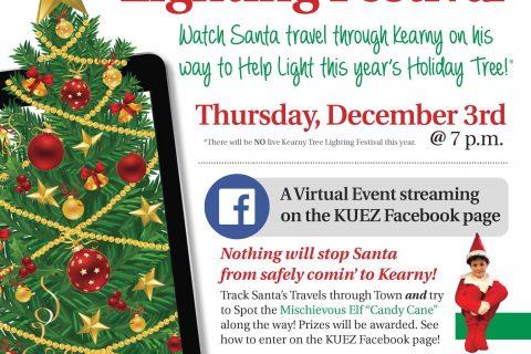 Annual Kearny Tree Lighting Festival will be held virtually this year on Thursday, December 3rd beginning at 7 p.m.